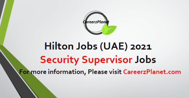 Security Supervisor Jobs 16 Apr 2021