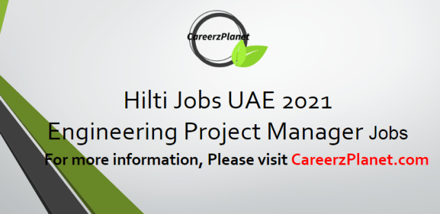 Project Manager Jobs in UAE 6 Apr 2021