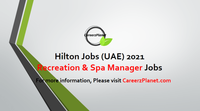 Recreation & Spa Manager Jobs 27 Apr 2021