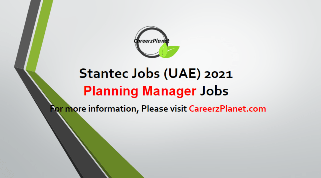 Planning Manager Jobs in UAE 05 May 2021