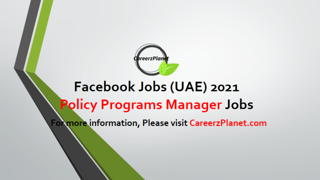 Policy Programs Manager in UAE 02 May 2021