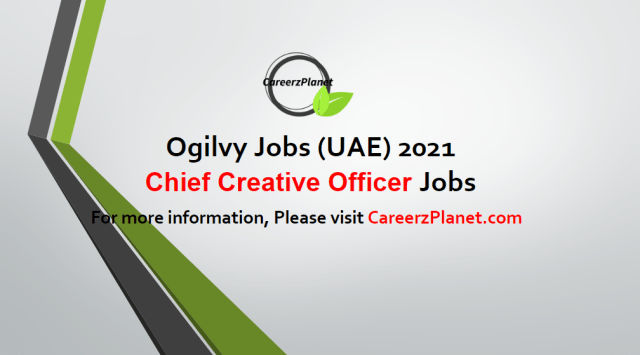 Chief Creative Officer Jobs UAE 03 May 2021