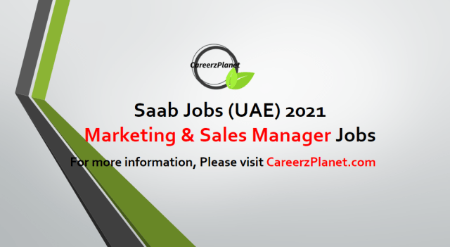 Marketing & Sales Manager Jobs in UAE 01 May 2021
