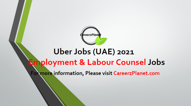 Employment & Labour Counsel, MEA Jobs in UAE 02 May 2021