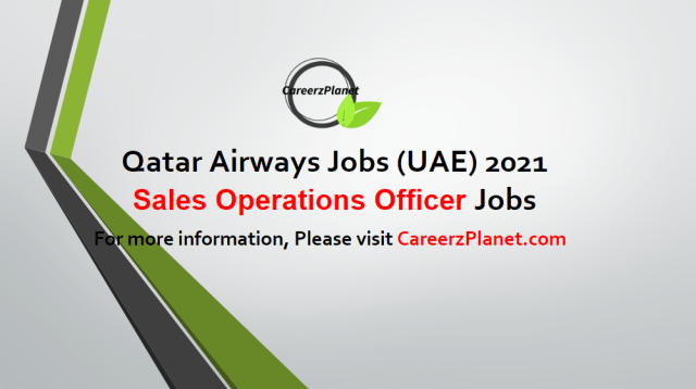 Sales Operations Officer Jobs in UAE 03 May 2021