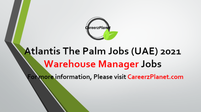 Warehouse Manager Jobs in UAE 23 Jun 2021