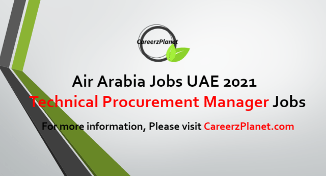 Technical Procurement Manager Jobs in UAE 09 Aug 2021