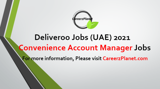 On Demand Convenience Account Manager Jobs in UAE 07 Jul 2021