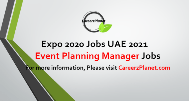 Event Planning Manager Jobs in UAE 17 Jul 2021