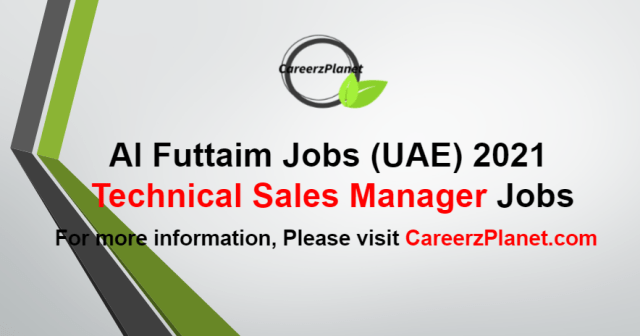 Technical Sales Manager Jobs in UAE 20 Aug 2021