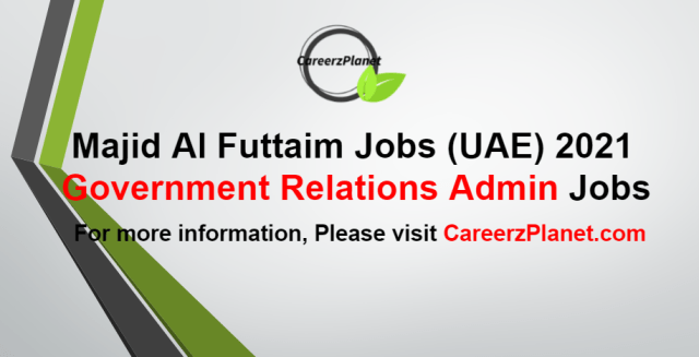 Government Relations Administrator Jobs in UAE 25 Aug 2021