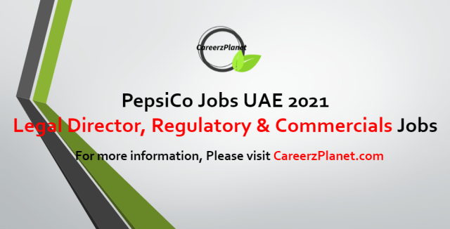 Law Jobs at PepsiCo UAE 03 Sep 2021 1- Legal Director, AMESA Functions, Regulatory & Commercial Job Category: Legal Full Time Dubai, UAE  Job Purpose: Supporting FRC Senior Director in provision of comprehensive legal team support to meet needs of all AMESA functions, with specific primary responsibility for certain such functions.  Key Accountabilities: A- Primary responsibility for FRC support to Sector Head Office, PPGA, Communications, Commercial & Marketing (Category teams and Sales), and R&D. B- Negotiating, reviewing, and drafting material FRC assigned contracts. Developing and maintaining contract templates for FRC clients. C- Leading/supporting legal support for AMESA Commercial & Marketing projects. D- Supports on AMESA Sales & Capability related projects primarily consisting of drafting Sales related templates.  Requirements: A- Bachelor of Law is required. B- Minimum of 8 years PQE in corporate/commercial law is required where English has been the predominant working language. C- Proven experience in drafting complex agreements at a senior level, reviewing and negotiating sensitive/high value contracts. D- Experience in managing internal clients to a senior level and external clients including suppliers, customers and public stakeholders. E- Excellent knowledge of corporate/commercial laws and practice in at least some of AMESA markets.  For more details, please scroll down & see the details.  Last Date to Apply: Sep-17-2021 Apply at CareerzPlanet.com