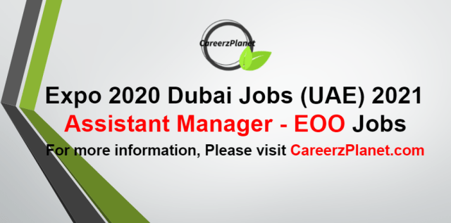Assistant Manager Jobs in UAE 06 Sep 2021