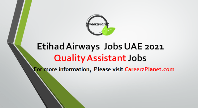 Quality Assistant Jobs in UAE 02 Sep 2021