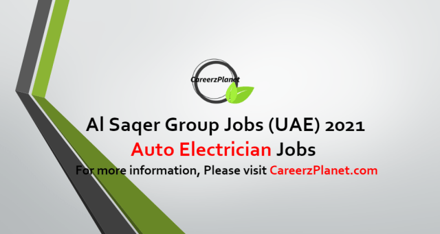 Auto Electrician Jobs in UAE 11 Oct 2021