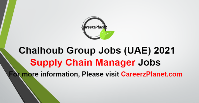 Supply Chain Manager  Jobs in UAE 05 Oct 2021