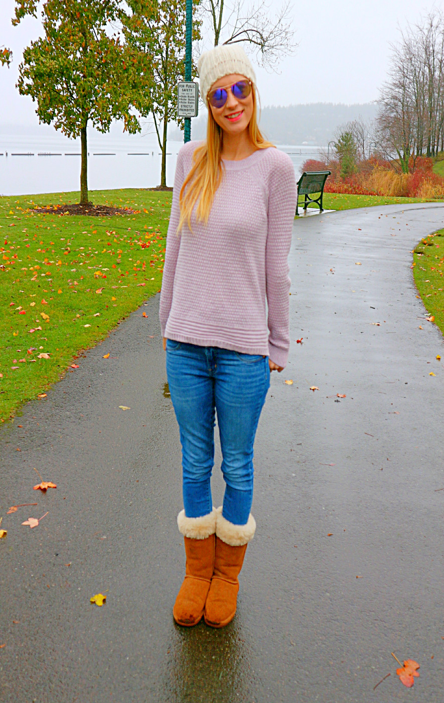 lilac sweater