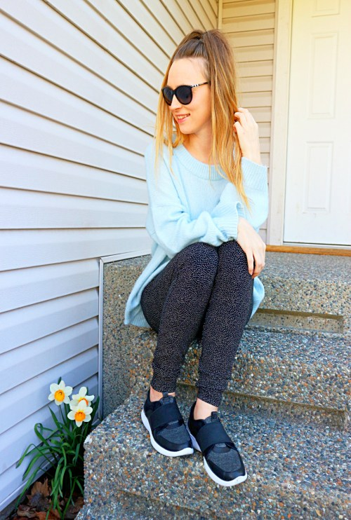 polka dots & oversized sweaters