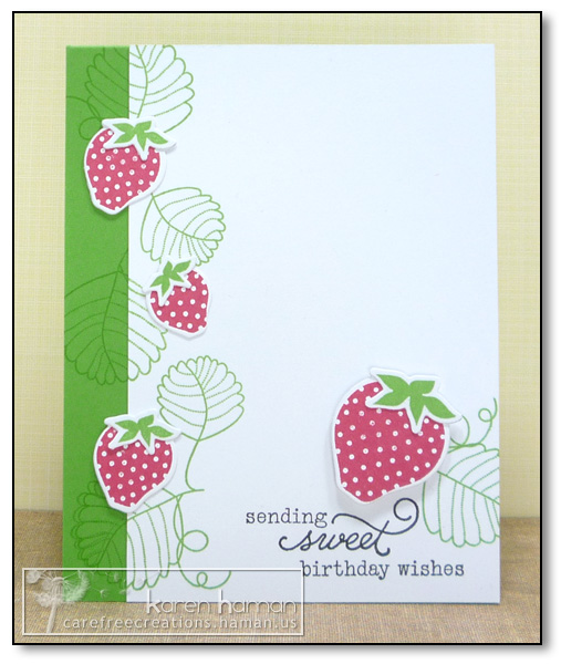 by Karen @ Carefree Creations: Strawberry Sweetness