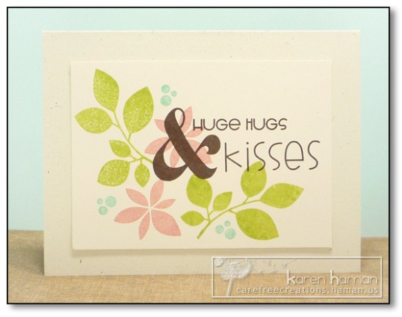 by Karen @ Carefree Creations - Hugs & Kisses