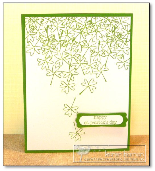 by Karen @ Carefree Creations - Shamrock Shower