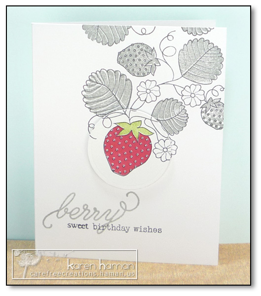 by Karen @ carefree creations - Strawberry Spotlight
