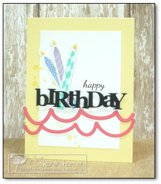 by Karen @ carefree creations - Birthday Celebration