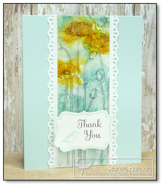 by Karen @ carefree creations - Poppies in Crystal