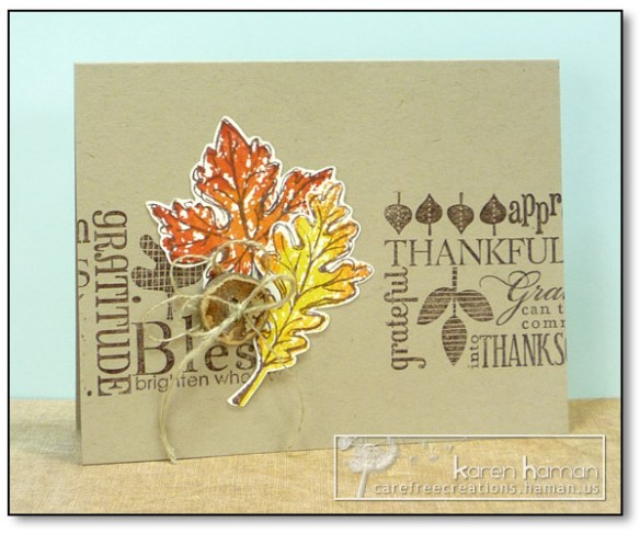 by karen @ carefree creations - Thanksgiving Leaves