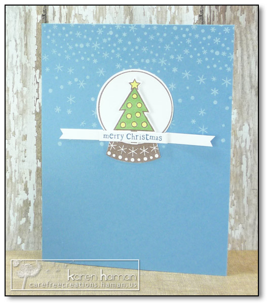 by karen @ carefree creations - Tree Snow Globe