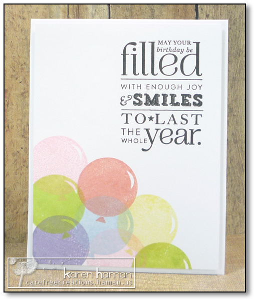 by karen @ carefree creations - Balloon Filled Year