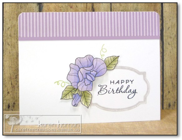 by karen @ carefree creations - Sweet Pea Blossom