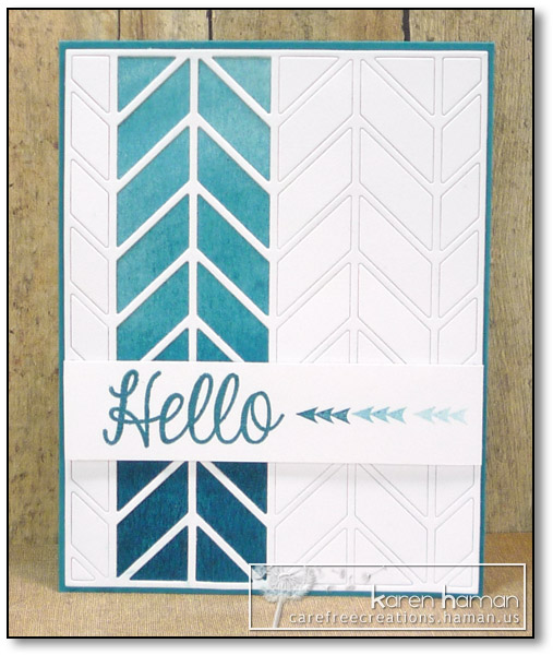 by karen @ carefree creations - Monochromatic Chevrons