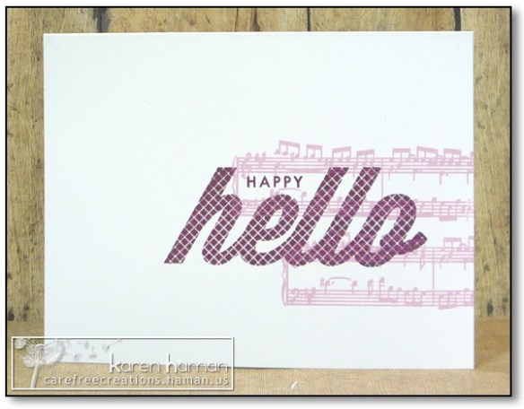 by karen @ carefree creations - Happy Hello