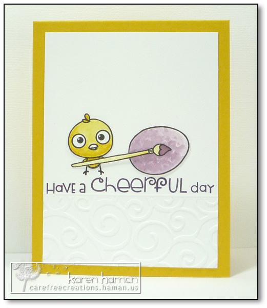 by karen @ carefree creations - Cheerful Chick