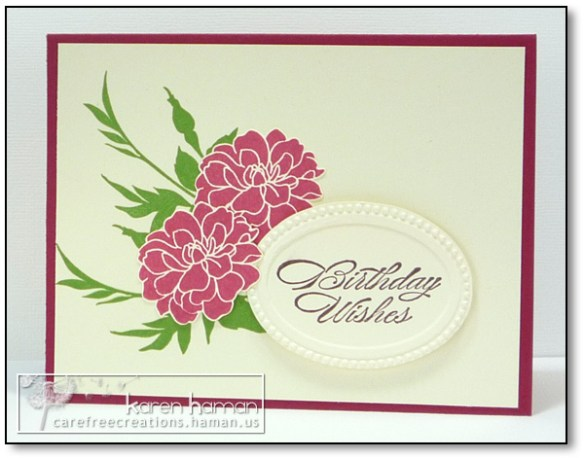 by karen @ carefree creations - Fabulous Florets