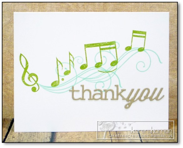 by karen @ carefree creations - Music Teacher Thank You