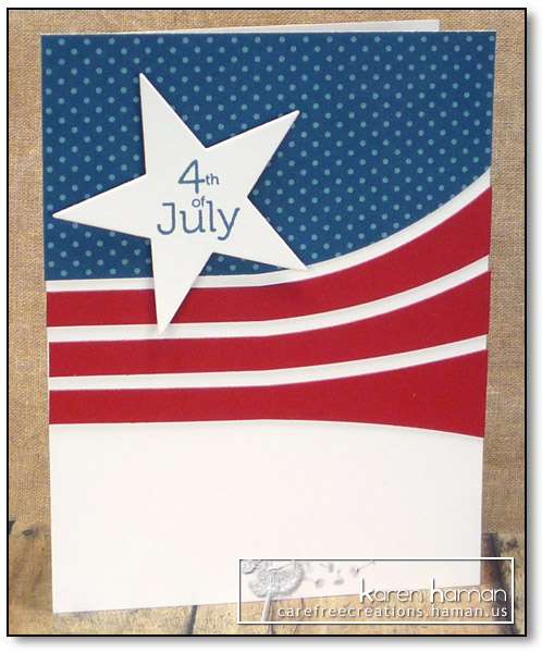 July 4th Waves - by karen @ carefree creations