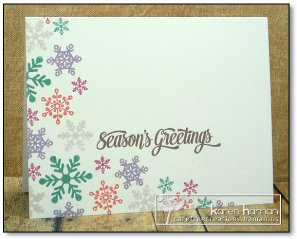 Seasonal Flurries - by karen @ carefree creations