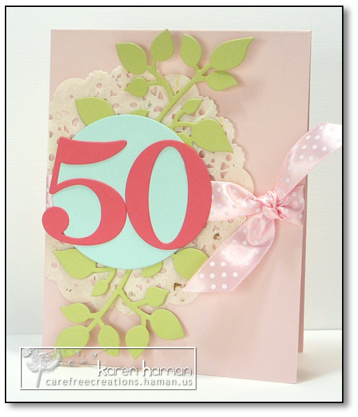 50th Birthday - by karen @ carefree creations