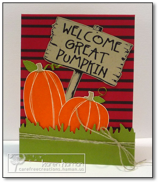 Great Pumpkin - by karen @ carefree creations