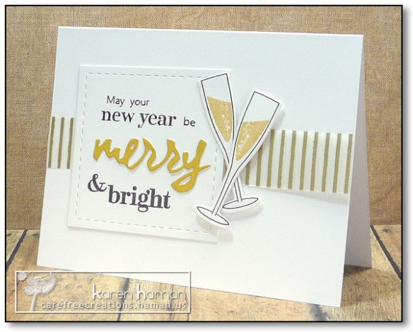 Merry & Bright New Year | by karen @ carefree creations