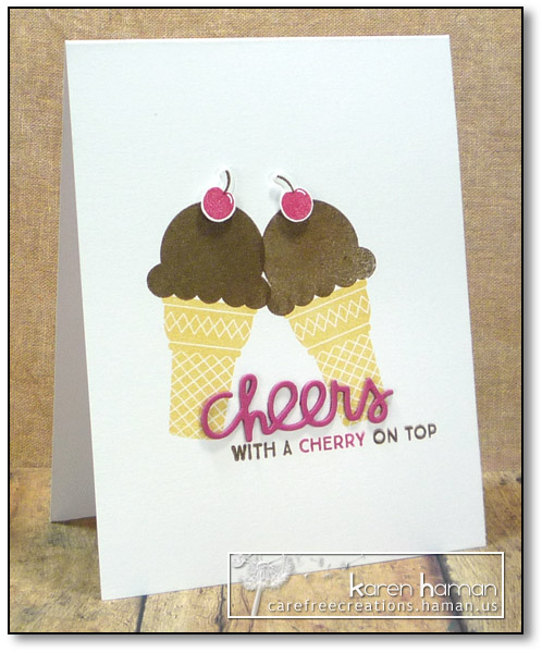 Cheers with a Cherry on Top | by karen @ carefree creations