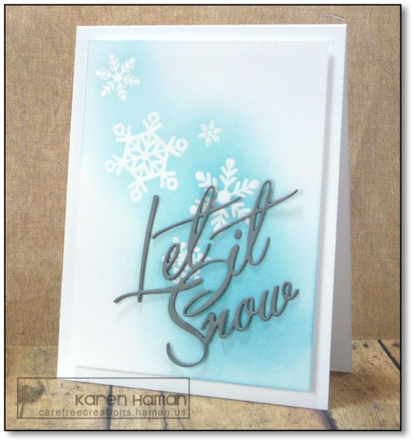 Let it Snow | by karen @ carefree creations