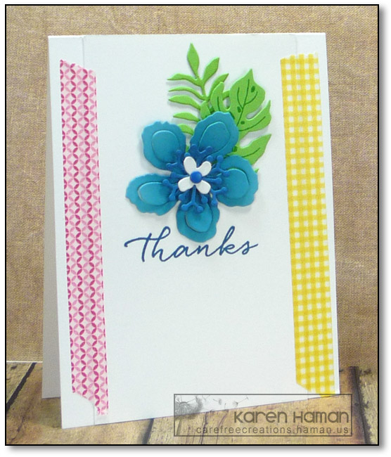 Tropical Thanks | by karen @ carefree creations