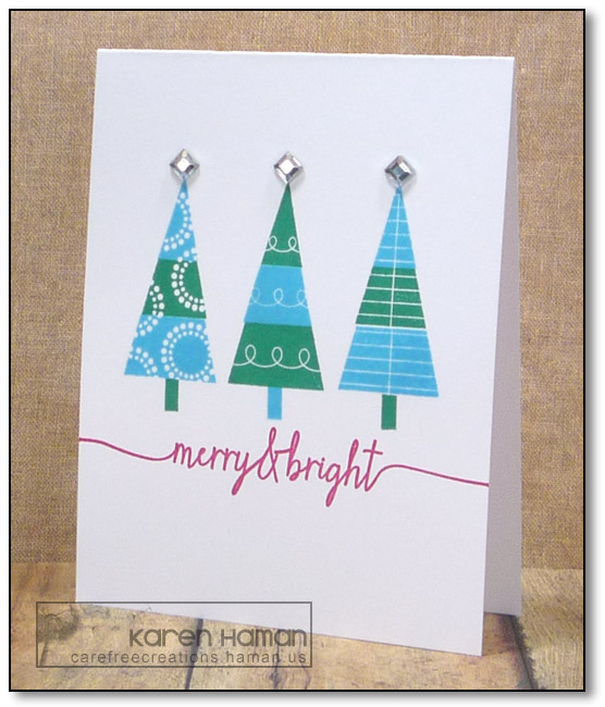 Merry Bright Trees | by karen @ carefree creations