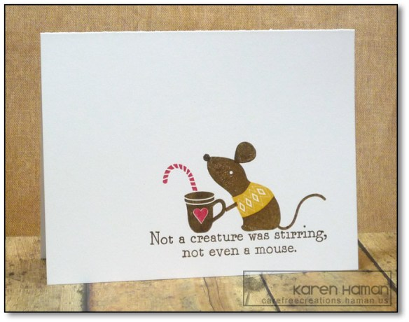 Christmas Mouse | by karen @ carefree creations