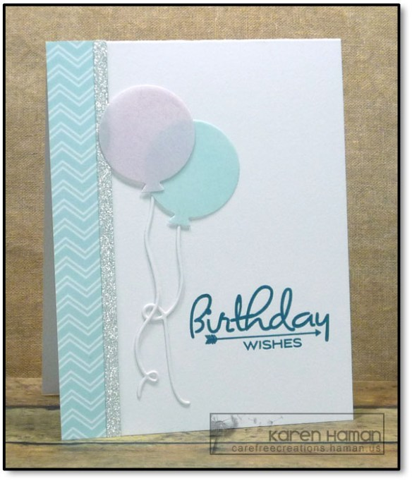 Birthday Balloons | by karen @ carefree creations