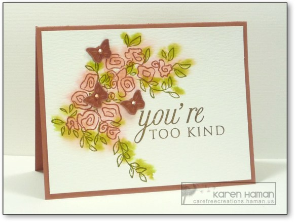 You're Too Kind | by karen @ carefree creations