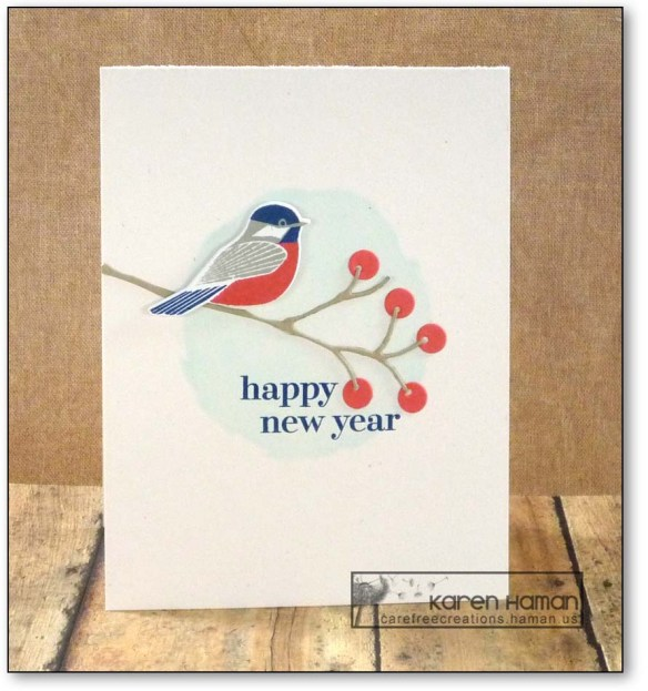 Bird Greets the New Year | by karen h @ carefree creations